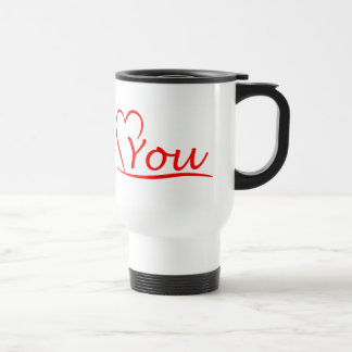 Love You, my heart is always open for you Travel Mug