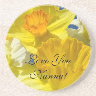 Love You Nanna! gifts Holiday Daffodil coasters