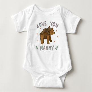 Love you Nanny design Baby Bodysuit