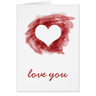 Love You Note Note Card