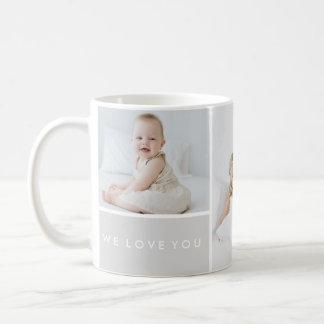 Love You Photo Collage Basic White Mug