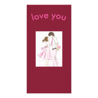 love you photocard photo greeting card