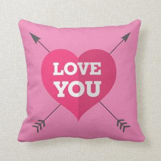 Love You Pillow 16x16