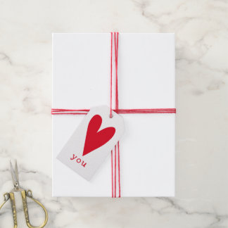 Love You | Red Heart Valentine's Day Gift Tags