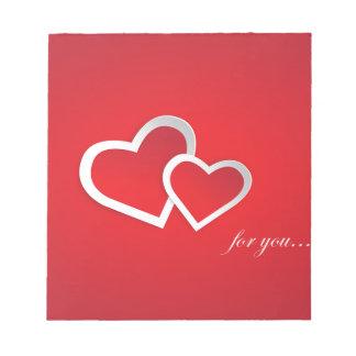 Love You Red Valentine Love Background Design Notepad
