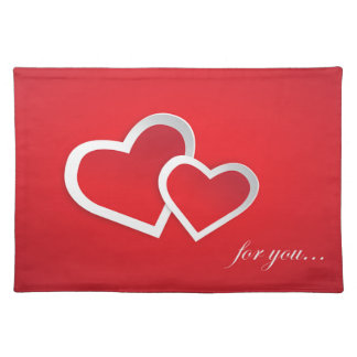 Love You Red Valentine Love Background Design Placemat