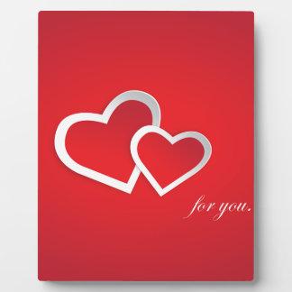 Love You Red Valentine Love Background Design Plaque