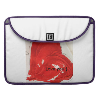 "Love you:) Rickshaw flap sleeve Macbook Pro 15"" Sleeve For MacBook Pro"