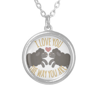 Love You Silver Plated Necklace