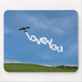 Love You Skywriting Mouse Pad