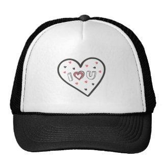 Love You So Much Romance Pink Heart Cute Sweet Cap