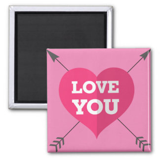 Love You Square Magnet