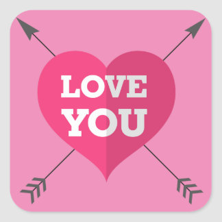 Love You Square Sticker