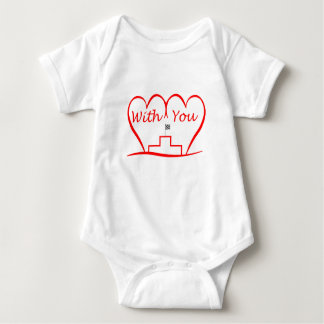 Love You, successfully with you together Baby Bodysuit
