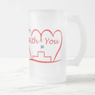 Love You, successfully with you together Frosted Glass Beer Mug