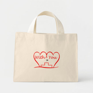 Love You, successfully with you together Mini Tote Bag