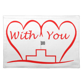 Love You, successfully with you together Placemat