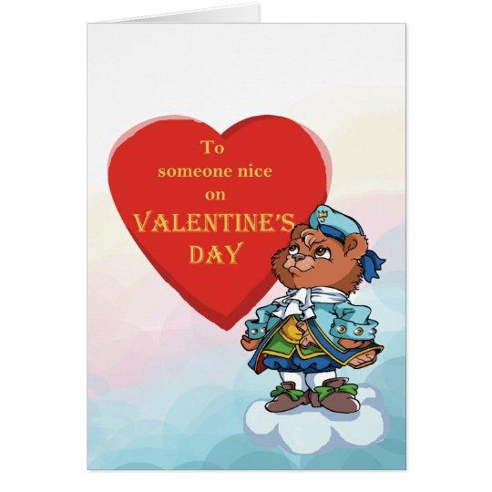Love You Teddy Bear Prince Card