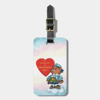 Love You Teddy Bear Prince Luggage Tag