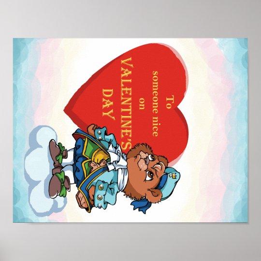 Love You Teddy Bear Prince Poster