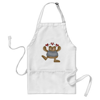 Love You Teddy Bear T-shirts and Gifts Standard Apron