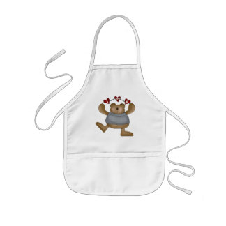 Love You Teddy Bear T-shirts and Gifts Kids Apron