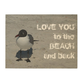 Love You to the Beach and Back Seagull Wood Wall Decor
