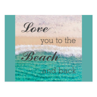 Love You To The Beach & Back Postcard