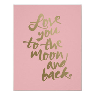 LOVE YOU TO THE MOON 11x14'' | TYPOGRAPHY POSTER