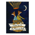 Love You To the Moon and Back - Cute Fox Couple Card