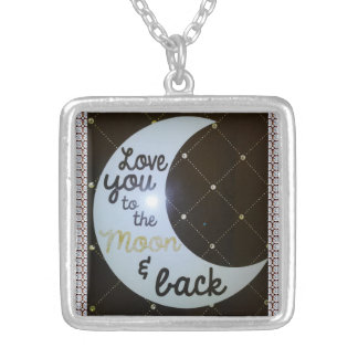 Love You To The Moon and Back Diamonds Necklace