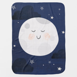 Love You To The Moon and Back Fleece Baby Blanket