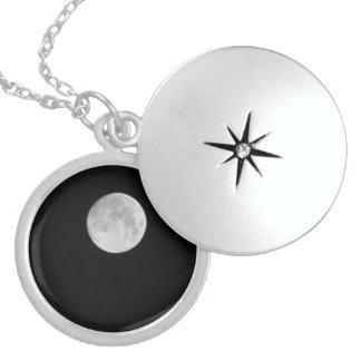 Love you to the moon and back locket necklace
