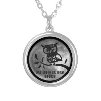Love you to the Moon and back, Owl necklace