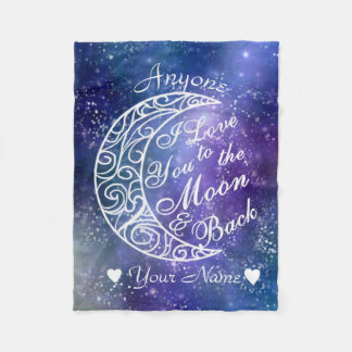 Love You To The Moon and Back Personalised Fleece Blanket