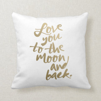 LOVE YOU TO THE MOON AND BACK | THROW PILLOW CUSHION