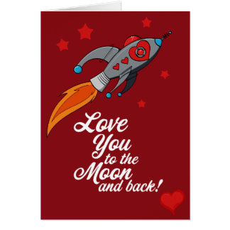 Love you to the moon and back - Valentine Card