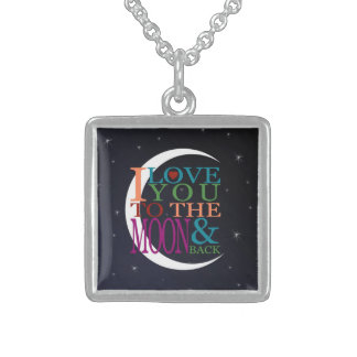 Love You to the Moon & Back Sterling Silver Necklace