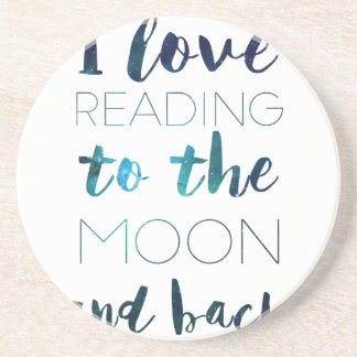 Love You to the Moon Drink Coaster
