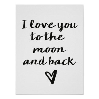 Love you to the Moon Poster