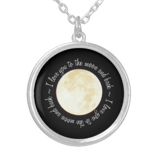 Love You to the Moon Round Pendant Necklace