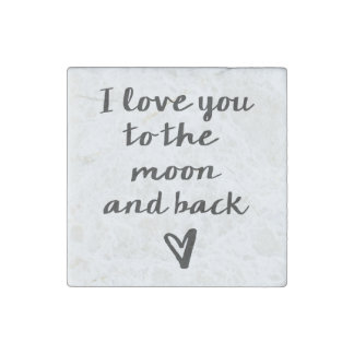 Love you to the Moon Stone Magnet