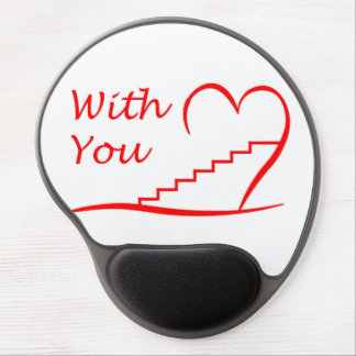 Love You, with you together the stairs up Gel Mouse Pad