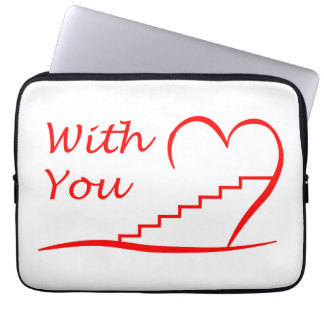 Love You, with you together the stairs up Laptop Sleeve