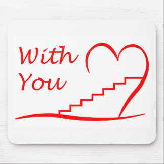Love You, with you together the stairs up Mouse Pad