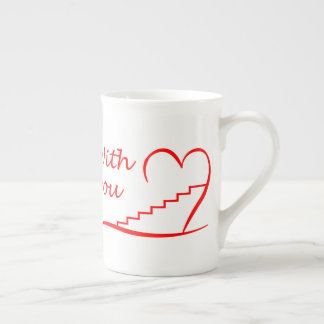 Love You, with you together the stairs up Tea Cup