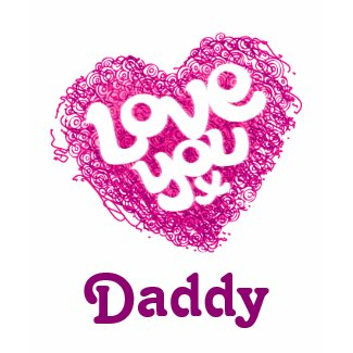 Love you x Daddy (or name of choice) tee shirt