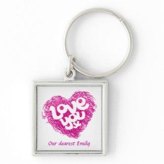 Love you x Emily keychain keychain
