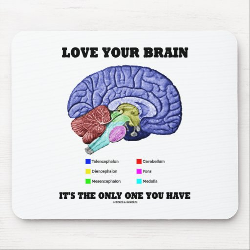 Love Your Brain It's The Only One You Have (Brain) Mouse Pads