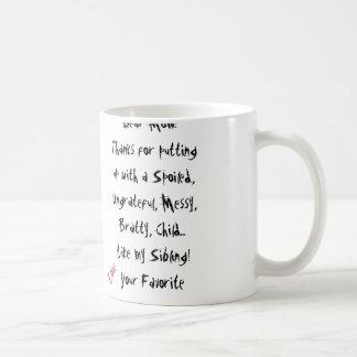 Love, Your Favorite! Mom Mug